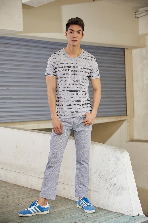 E'SOPO 【T-shirt 19】黑白條紋T
