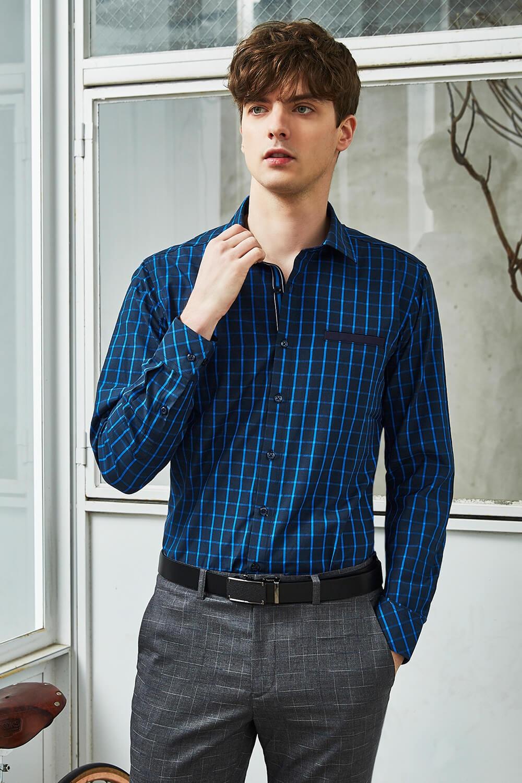 耀目藍格紋襯衫