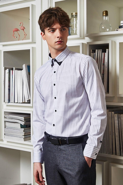 優雅條紋襯衫
