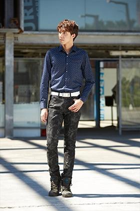 E'SOPO 優雅藍色系襯衫