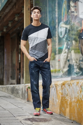 E'SOPO 【T-shirt 08】黑白幾何區塊T恤