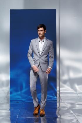 【飛鷹FLYING EAGLE】男灰色成套西裝 | 編號: 09
