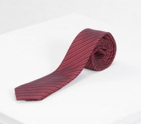 磚紅斜紋領帶